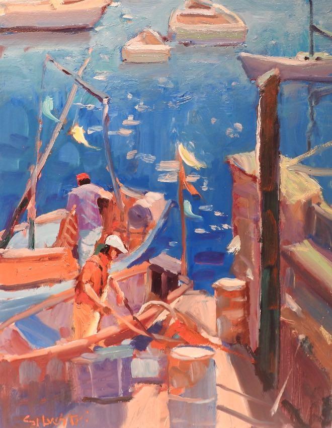Fishermen Collecting Nets