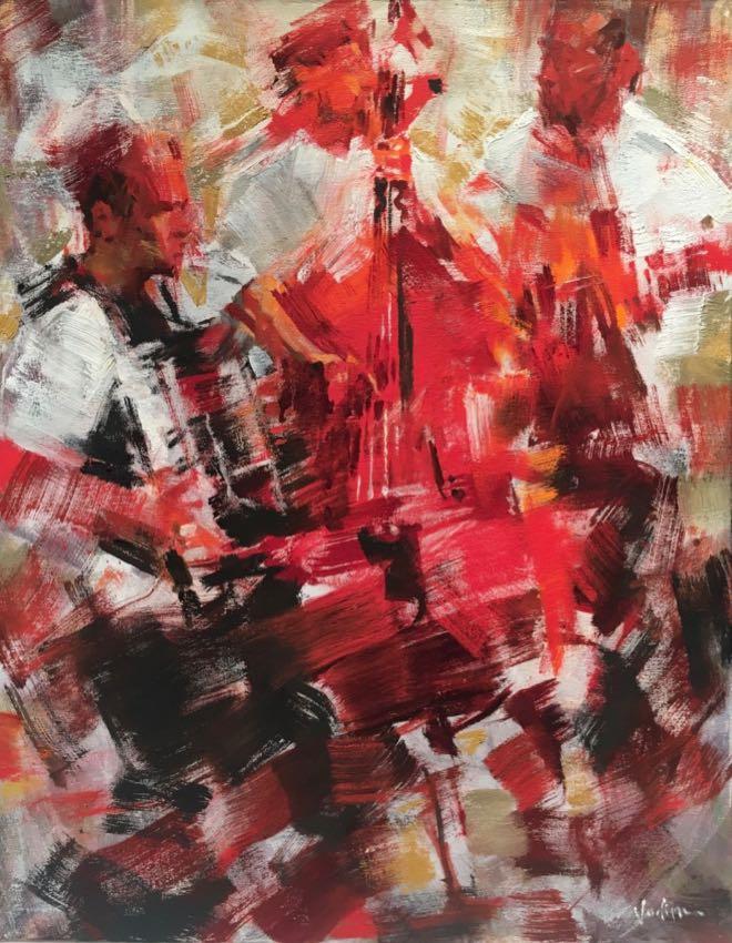 Crimson Trio Vadim Zang 28x22 oil