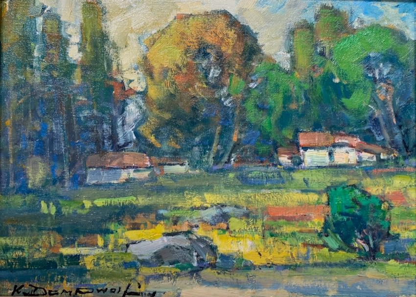 Gold Country Ca. Karl Dempwolf 12x16 oil