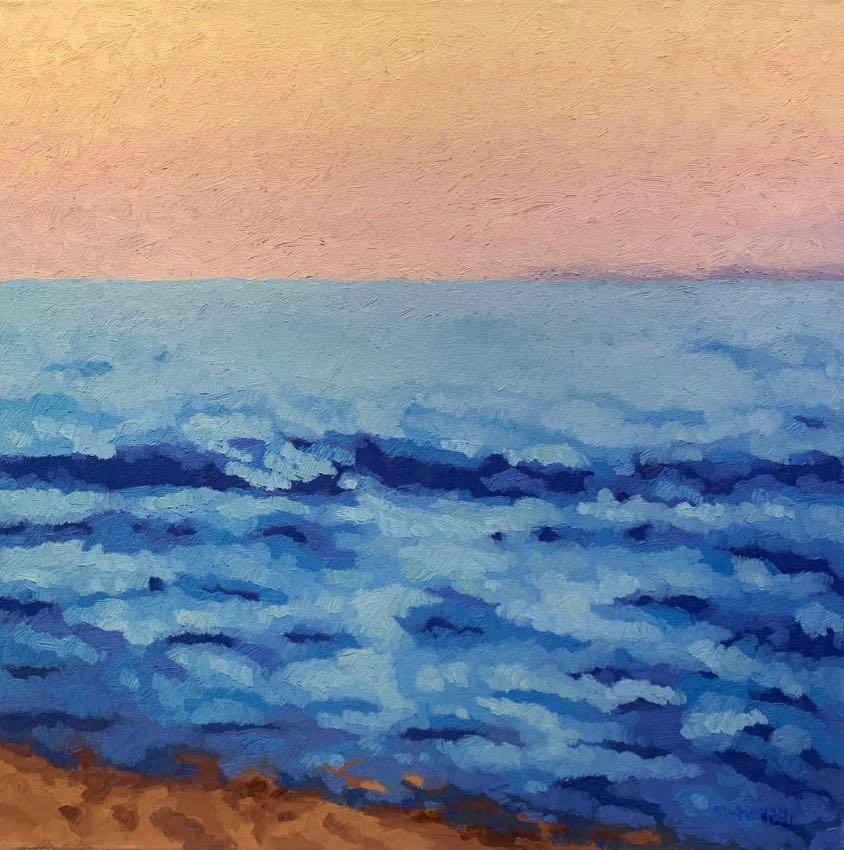 Impressionist Sunrise Sydney Hall 24x24 oil