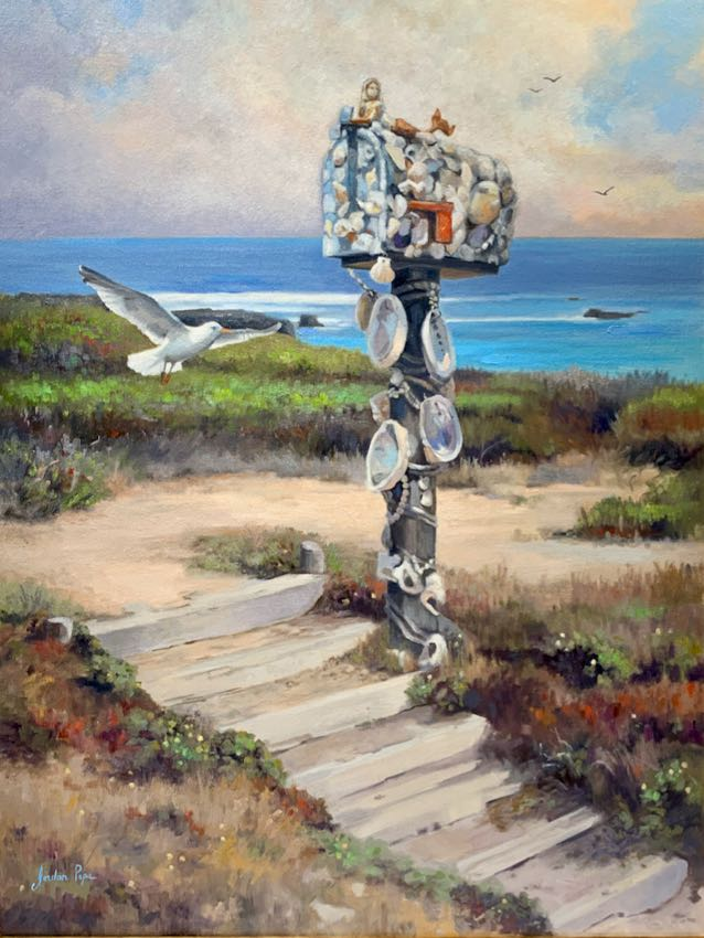 Letters from the Sea Jordan Pope 40x30 oil