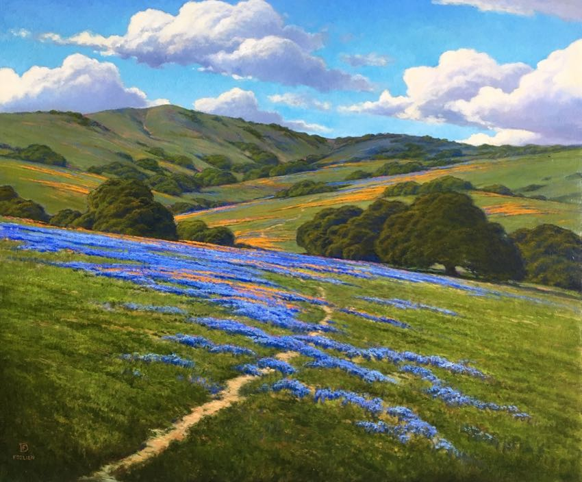 Lupine and Poppies Dirk Foslien 20x24 oil