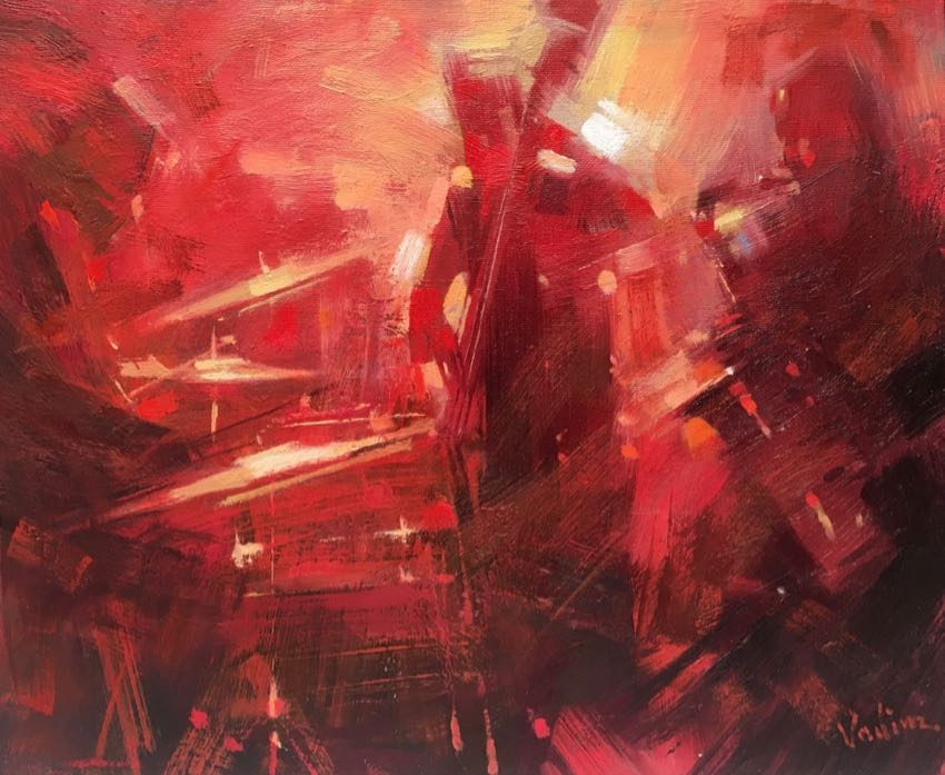 Sax Drums and Bass Vadim Zang 16x18 Oil