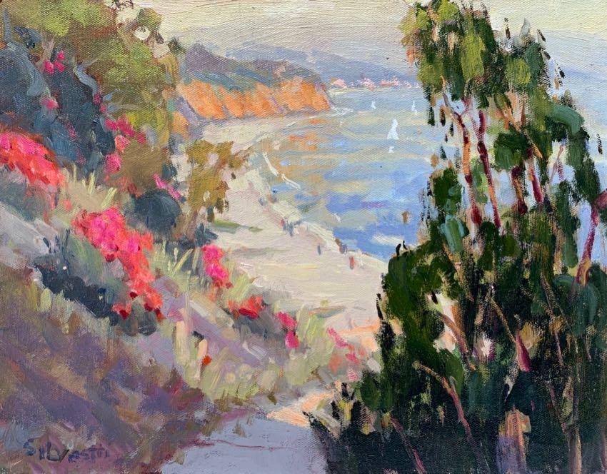Summerland Beach Silvio Silvestri 11x14 oil