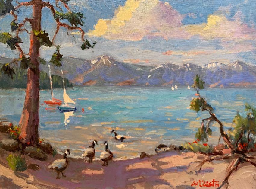 Tahoe Kings Beach Silvio Silvestri 12x16 oil