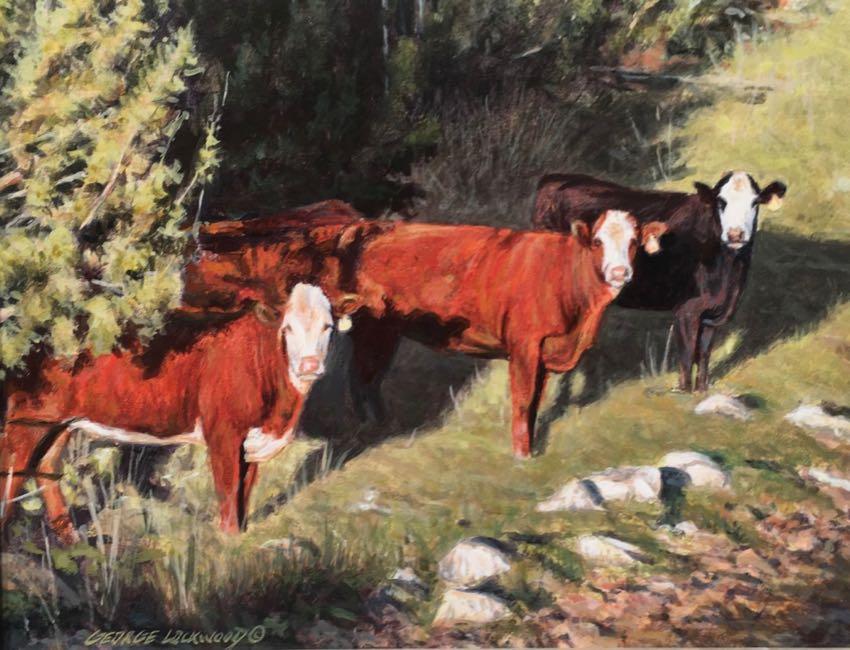 Wild Bunch George Lockwood 8x10 acrylic
