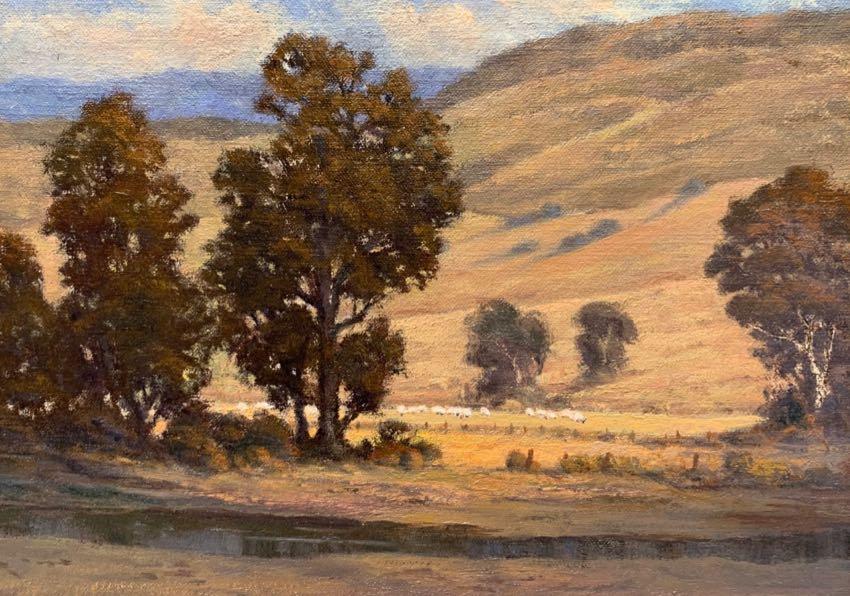 Canyon Sheep Ranch Mel Rhoads 9x12