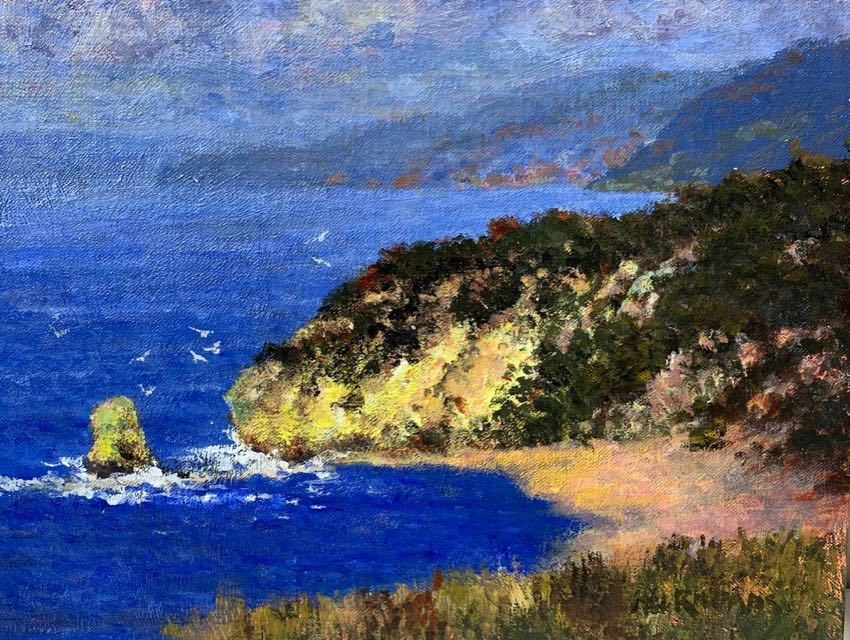 Coastal Cove Mel Rhoads 9x12 Acrylic