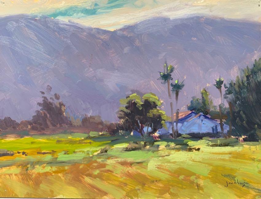 Santa Ynez Ranch Jacobus Baas 9x12