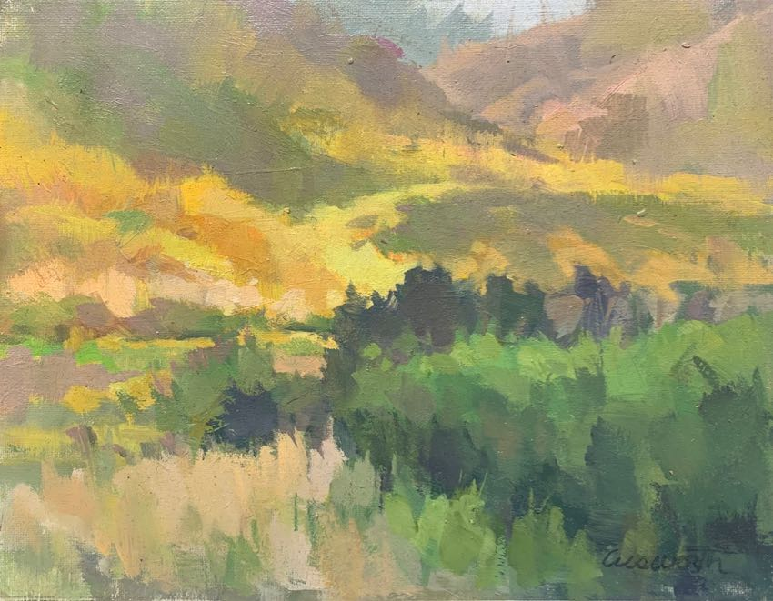 Trail Above Malibu Harvey Cusworth 11x14