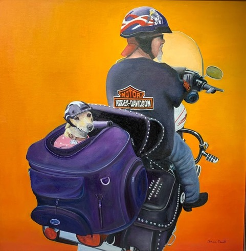 Princess and the Biker Dennis Newell 36 x 36 $6,000