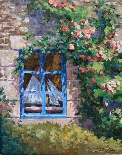 """Window Dressing 14"""" x 11"""" $1800 Matthias Fischer"""