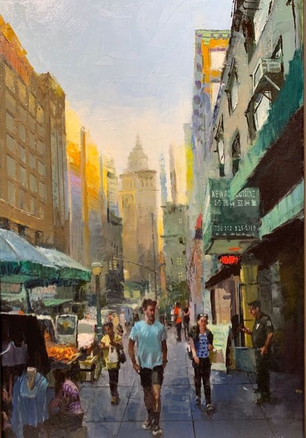 "Market Day New York 36""x24"" Dan LaVigne"
