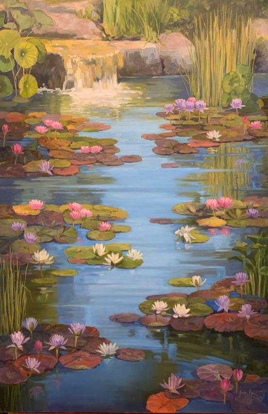 """Water Garden Ballet 68"""" x 48"""" Jordan Pope"""