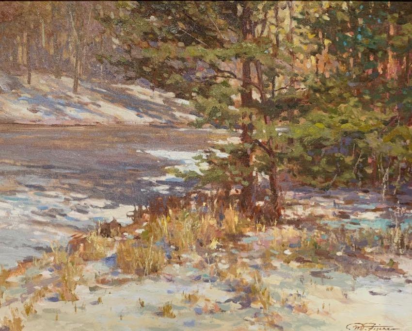"""Touch of Winter 16"""" x 20"""" Matthias Fischer"""