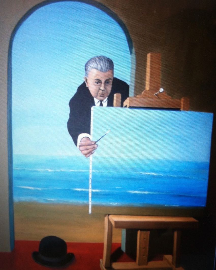 Magritte's Painting 30x24 Newell