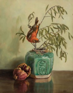 Olives with Tanager (SOLD)