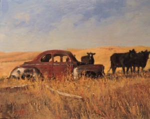 A Car and Three Cows (SOLD)